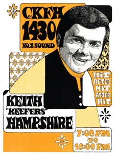 Talent: KEITH HAMPSHIRE Station: CKFH Toronto Date: January 15, 1970 - keithhampshire-ckfhposter